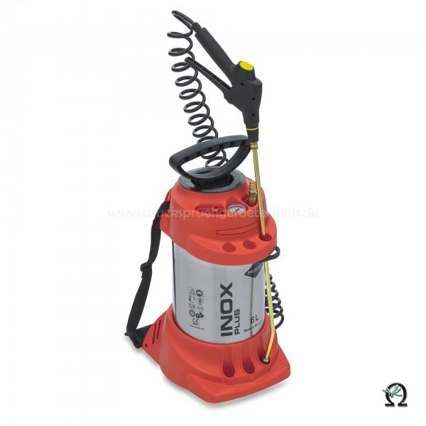 MESTO Edelstahl-Hochdrucksprühgerät INOX PLUS m. zusätzlichem Füllventil - 6 Ltr.