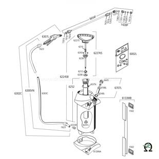 MESTO 3275PP CLEANER mit FPM-Dichtugen, Explosionszeichnung mit Ersatzteilnummern