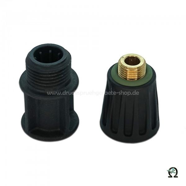 MESTO Adapter-Kit 1631M Messing-Verlängerungsrohr auf Kunststoff-Spritzrohr