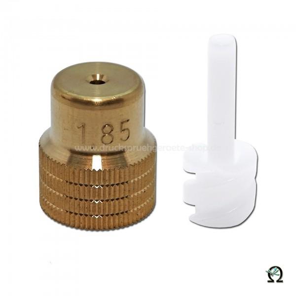 MESTO Messing-Hohlkegeldüse 1,85 mm mit Dralleinsatz