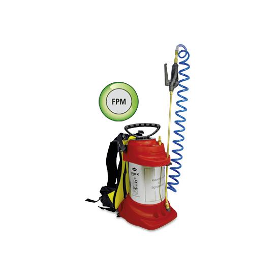 MESTO Edelstahl-Hochdrucksprühgerät INOX PLUS m. Druckluft-Füllventil u. Spezial-Tragegestell - 6 Ltr.