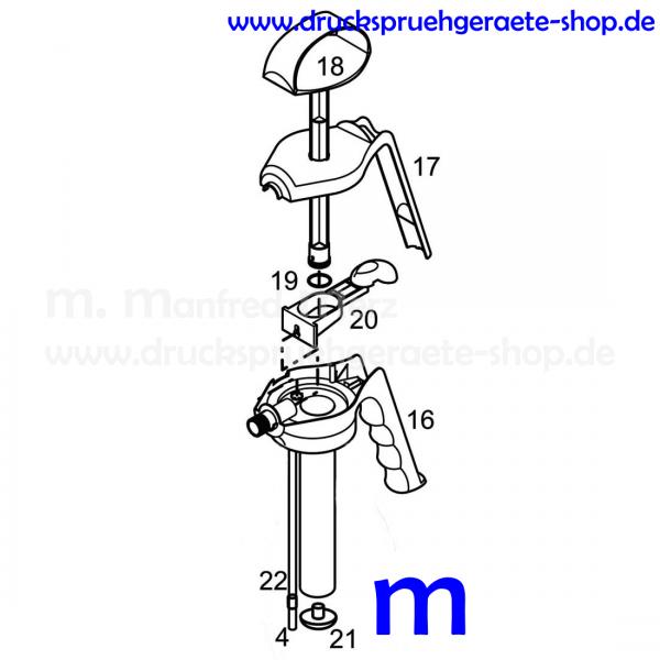 Pumpenkopf FLEXI komplett 5211N m NBR-Dichtungen