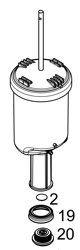 MESTO Pumpeneinsatz komplett f. RS125 und RS185