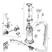 Edelstahl-Hochdrucksprühgerät  Mesto INOX XTREME mit Transpüortwagen - 10 Liter, Ersatzteile