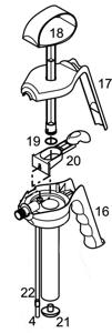 Pumpenkopf FLEXI komplett, FPM-Dichtungen