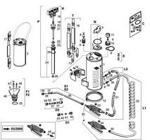 Edelstahl-Hochdrucksprühgerät Mesto RESISTENT PLUS EXTRA 5 Liter, Ersatzteile