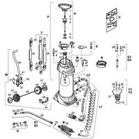 MESTO Edelstahl-Hochdrucksprühgerät INOX PLUS m. Druckluft-Füllventil - 10 Ltr., Ersatzteile