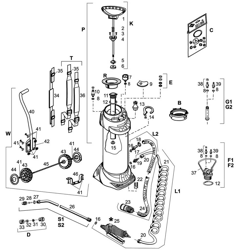 Mesto 3965 Transportwagen Kit für FERROX//INOX Sprühgerät