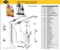 Explosionszeichnung mit Ersatzteilliste für das Drucksprühgerät Mesto CLEANER 3275PP