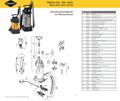Explosionszeichnung mit Ersatzteilliste für das Hochdrucksprühgerät Mesto INOOX 3615G