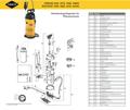 Explosionszeichnung mit Ersatzteilliste für das Drucksprühgerät Mesto RESISTENT 3590