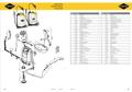Explosionszeichnung mit Ersatzteilliste für das Drucksprühgerät Mesto RS 125